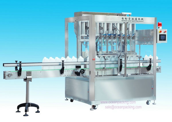 OPGG-2500-8 8 Heads Automatic Liquid/Paste Filling Machine